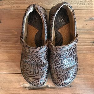 Børn BOC Peggy Tumbled Brown Leather Clogs, sz 6.5